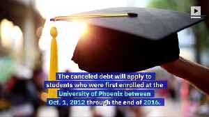 University of Phoenix to Cancel $141 Million of Student Debt [Video]