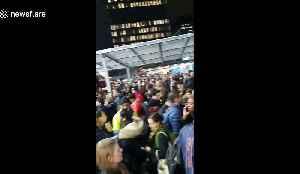 Fire alarm causes evacuation Euston Station in London [Video]