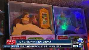 Toy giveaway Saturday at Christmas Tree farm [Video]