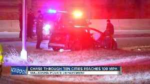 Suspect leads police on 65 mile chase after running over an officer [Video]