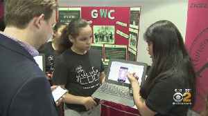 Newark Girls Showcase Their Coding Skills [Video]