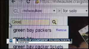 Fake tickets are circulating for the Packers game [Video]