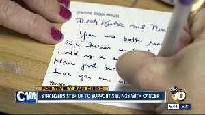 Strangers send words of encouragement to siblings fighting brain cancer [Video]