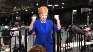 Nicola Sturgeon celebrates Jo Swinson losing her seat