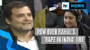 'Rahul Gandhi gave clarion call to rape': Smriti Irani lashes out in Lok Sabha [Video]