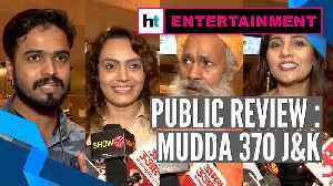 News video: Public review of Mudda 370 J&K