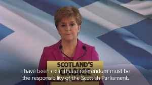 SNP leader Nicola Sturgeon plans second independence referendum bid [Video]