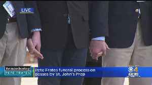 Petes Frates Funeral Procession Passes By St. John's Prep [Video]