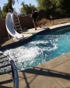 Guy Tries Flipping While Diving in Swimming Pool And Crashes in Water [Video]