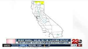 Recent rainfall has helped the California drought [Video]