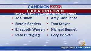 Top Presidential Candidates In Pittsburgh For Public Education Forum [Video]