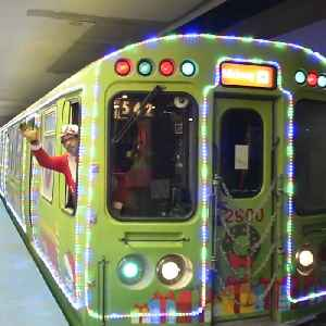 Chicago Christmas train lets you take a ride with Santa Claus [Video]