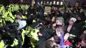 News video: Scuffles in London as anti-Boris Johnson protests descends into violence