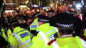 Anti-Boris Johnson protesters clash with police in Whitehall [Video]