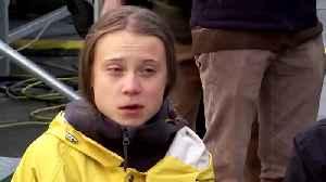 News video: I need a break, says globetrotting Greta