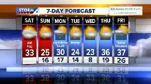 Upper 20s, mid-30s through the week, snow possible for the week ahead [Video]