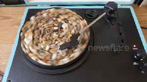 Rock and roll: Sound artist fills record player with gravel in oddly satisfying video [Video]