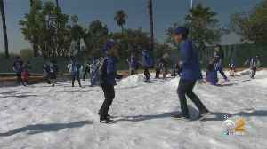 Winter Wonderland: Dodgers Bring In The Snow For Annual Children's Holiday Party [Video]
