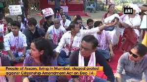 Assamese sit on dharna against CAA in Mumbai [Video]