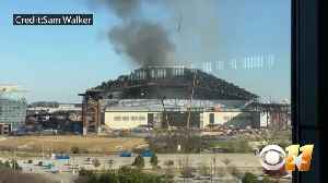 Fire Breaks Out At New Globe Life Field In Arlington [Video]