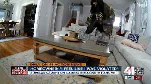 Burglar caught on camera breaking into home [Video]