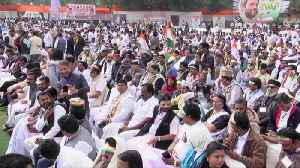 India's opposition Congress party hold massive 'Bharat Bachao' rally [Video]