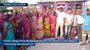 News video: Citizenship Amendment Act Hindu refugees from Bangladesh celebrate in Karnataka Raichur