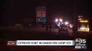 News video: Officer hurt in crash on L-303
