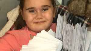 11-Year-Old Amputee Delivers 1,000 Christmas Cards [Video]
