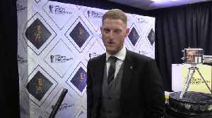 News video: Ben Stokes reacts to winning Sports Personality of the Year