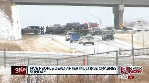 Five deaths reported after multiple crashes Sunday [Video]