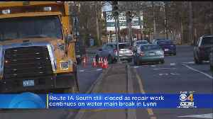 Route 1A South Still Closed For Water Main Break Repair Work [Video]