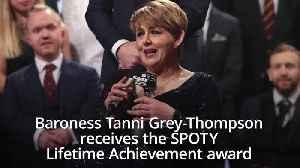 Baroness Tanni Grey-Thompson receives SPOTY Lifetime Achievement award [Video]