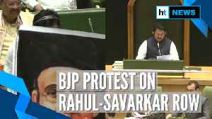 Maharashtra Assembly: BJP protests against Rahul Gandhi with Savarkar posters [Video]