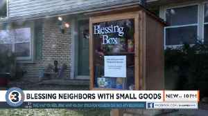 'Take what you need, bring what you can': Stoughton neighbors give back with Blessing Box [Video]