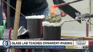 Interactive glass laboratory helps people create ornaments for upcoming holidays [Video]