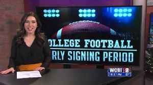 News video: Football Athletes and Coaches Prepare for the Early Signing Period