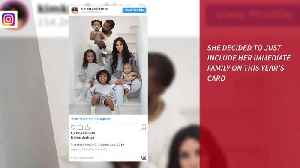 Kim Kardashian West photoshopped North West into Christmas card [Video]