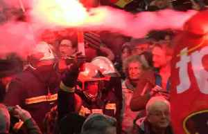 Protests over pension reforms ravage France [Video]