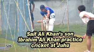 Saif Ali Khan's son Ibrahim Ali Khan practice cricket at Juhu [Video]