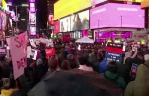 Rallies in New York on eve of Trump impeachment vote [Video]