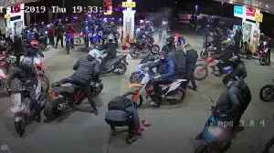 Group of bikers caught robbing petrol station on Halloween [Video]