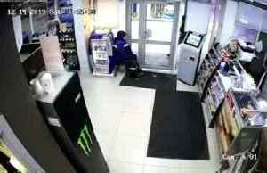 Siberian gas station employee fights robber with mop [Video]