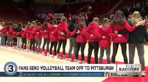 Fans send volleyball team off to Pittsburgh [Video]