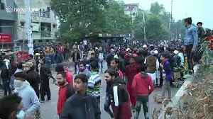 Police and protesters clash in Indian capital over citizenship law [Video]