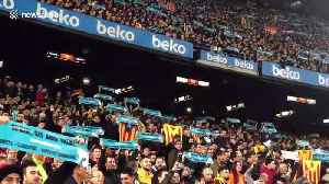 News video: Pro-Catalan independence protesters interrupt Barcelona-Real Madrid game in Catalonia