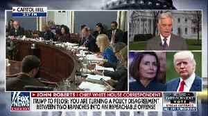 News video: President Trump Attacks Nancy Pelosi In Letter On Impeachment
