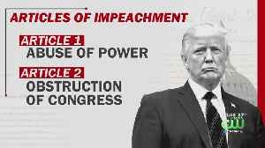 President Donald Trump Impeached On Two Articles In Historic Rebuke [Video]
