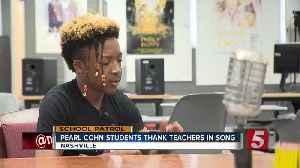School Patrol: Students thank teachers in song [Video]