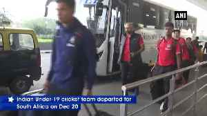 Indian U-19 cricket team departs for South Africa [Video]